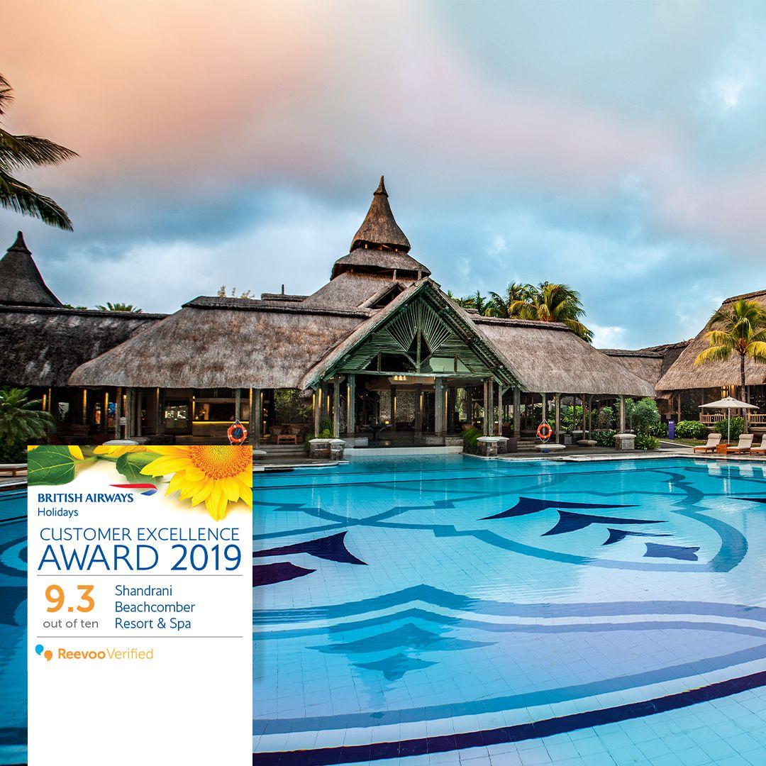 Le Shandrani Beachcomber Resort & Spa reçoit le prix d'excellence client  de British Airways Holidays pour 2019 | business-magazine.mu