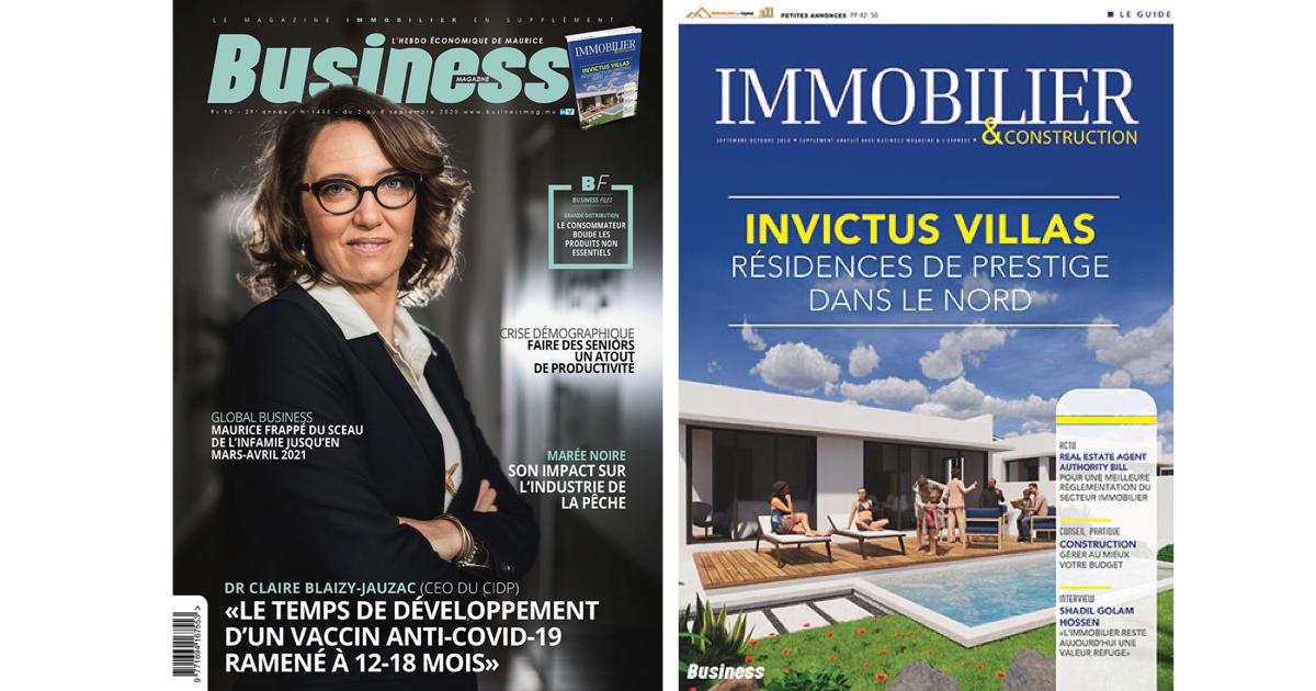 Dr Claire Blaizy-Jauzac : «Le temps de développement d'un vaccin anti-Covid-19 ramené à 12-18 mois»   business-magazine.mu