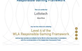 Lottotech obtient la plus haute certification en jeu responsable | business-magazine.mu