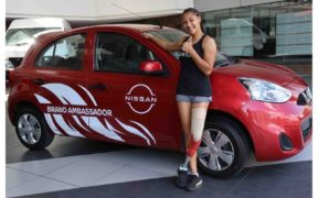 ABC Motors met une Nissan Micra à la disposition de Noemi Alphonse | business-magazine.mu
