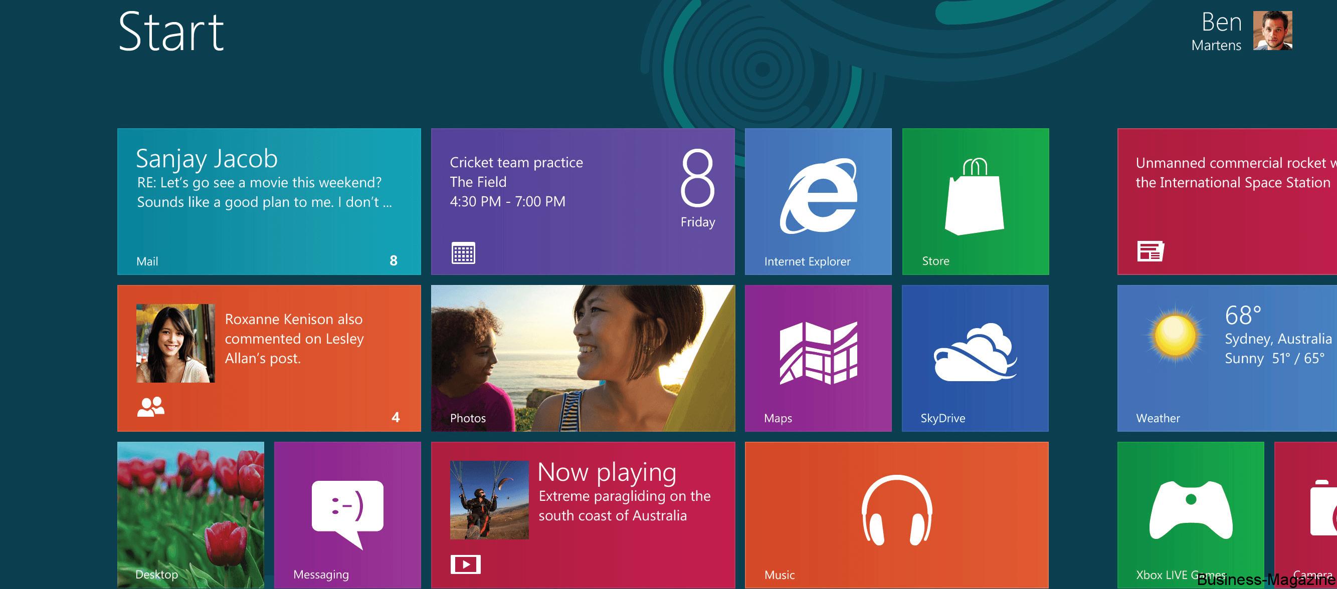 Windows 8 Réimaginer l'utilisation du PC | business-magazine.mu