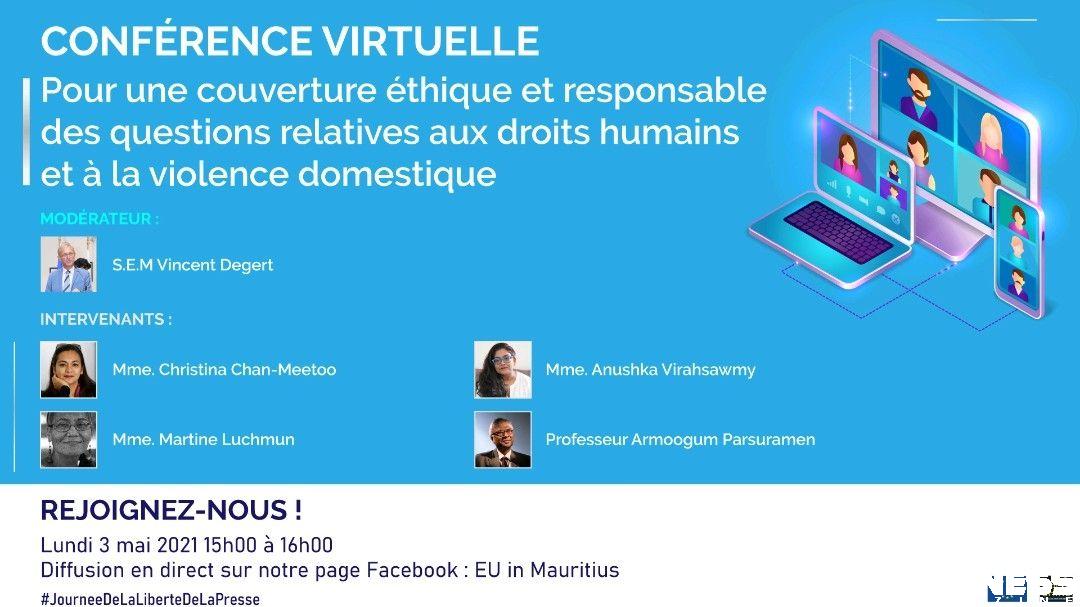Plaquette de la conférence de l'UE à Maurice sur