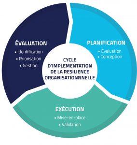 Cycle d'implementation de la résilience organisationnelle